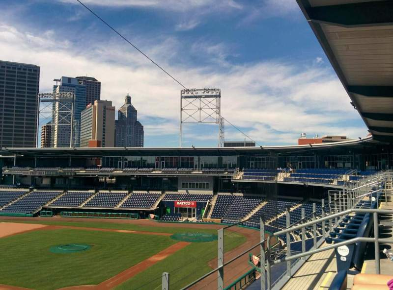 Seating view for Dunkin' Donuts Park Section S16 Row B