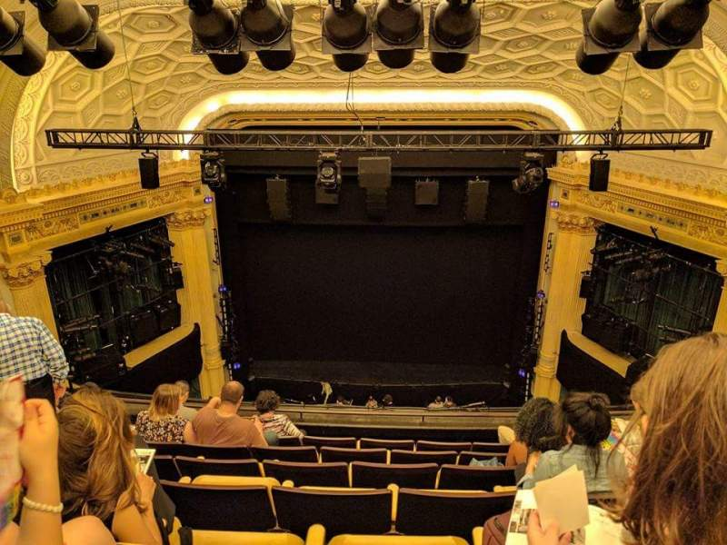 Seating view for Hudson Theatre Section Balcony C Row G Seat 113