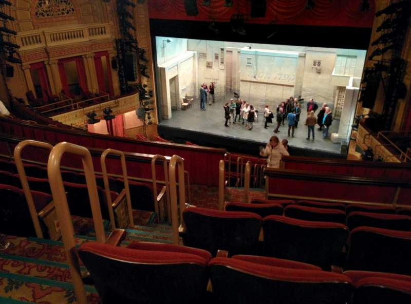 Seating view for Ethel Barrymore Theatre Section Rear Mezzanine R Row F Seat 8