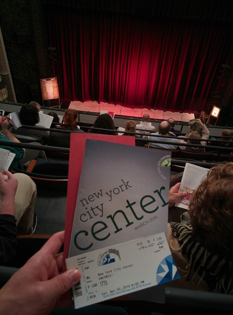 Seating view for Mainstage at the New York City Center Section Balcony Row F Seat 132