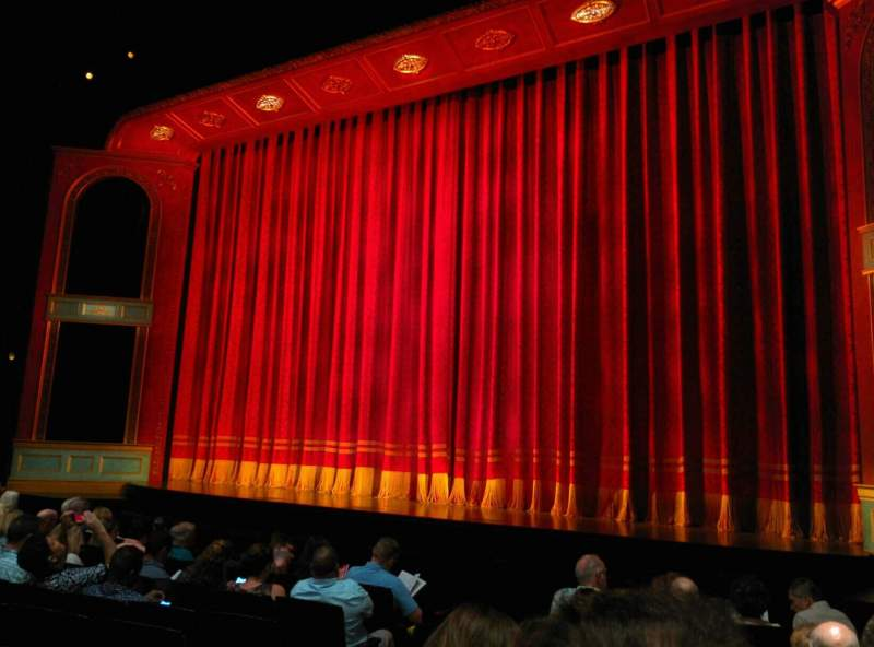 Seating view for Marquis Theatre Section Orchestra R Row J Seat 6