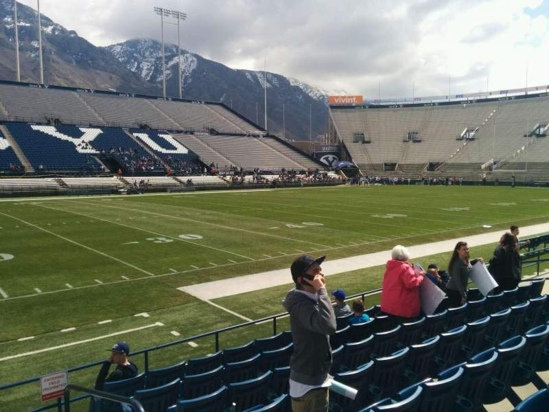 Seating view for LaVell Edwards Stadium Section 8 Row 8 Seat 2