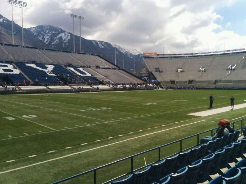 Seating view for LaVell Edwards Stadium Section 9 Row 5 Seat 1