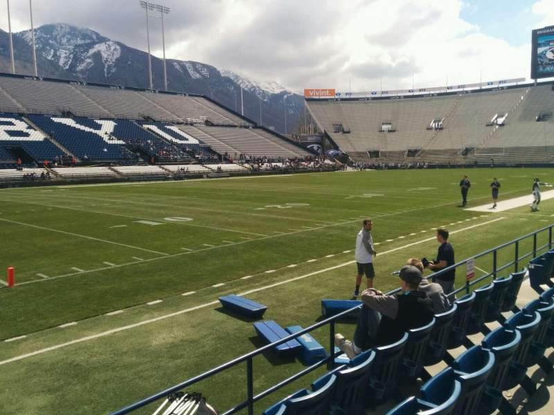 Seating view for LaVell Edwards Stadium Section 9 Row 4 Seat 14