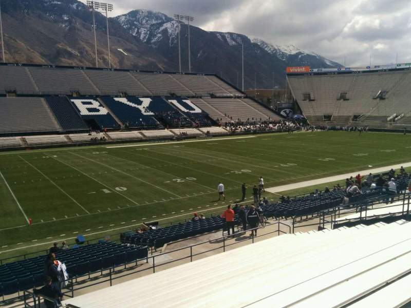 Seating view for LaVell Edwards Stadium Section 9 Row 25 Seat 1