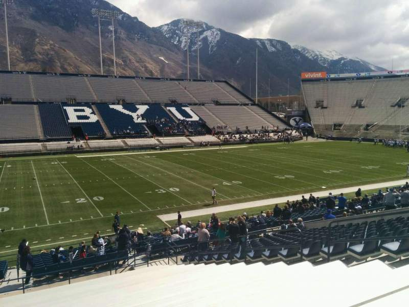 Seating view for LaVell Edwards Stadium Section 8 Row 28 Seat 10