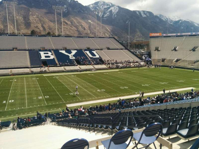 Seating view for LaVell Edwards Stadium Section 108 Row 1 Seat 6