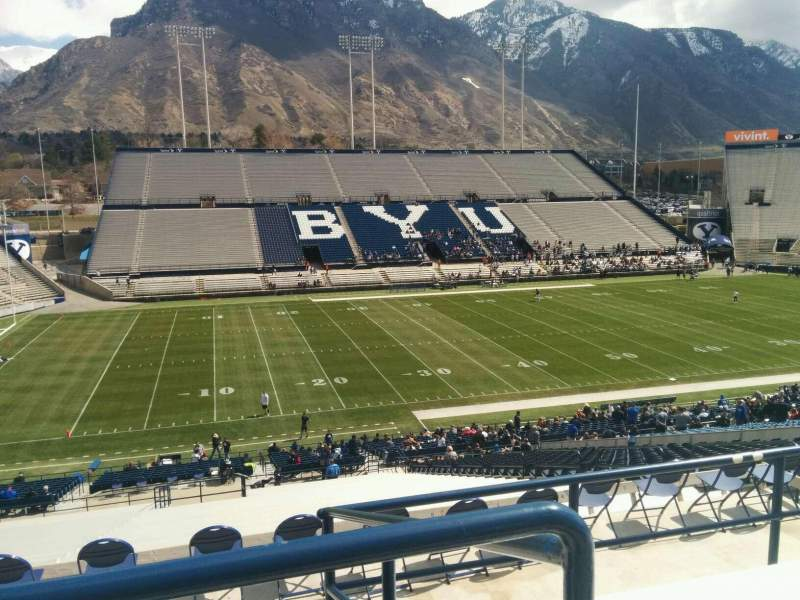 Seating view for LaVell Edwards Stadium Section 108 Row 6 Seat 15