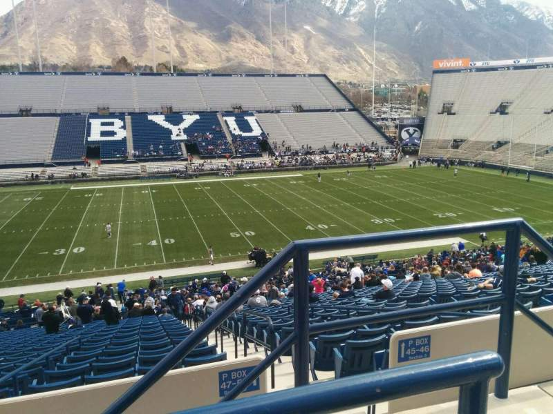 Seating view for LaVell Edwards Stadium Section 106 Row 2 Seat 2