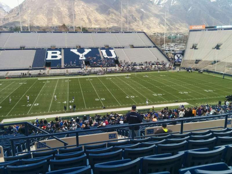 Seating view for LaVell Edwards Stadium Section 105 Row 7 Seat 33