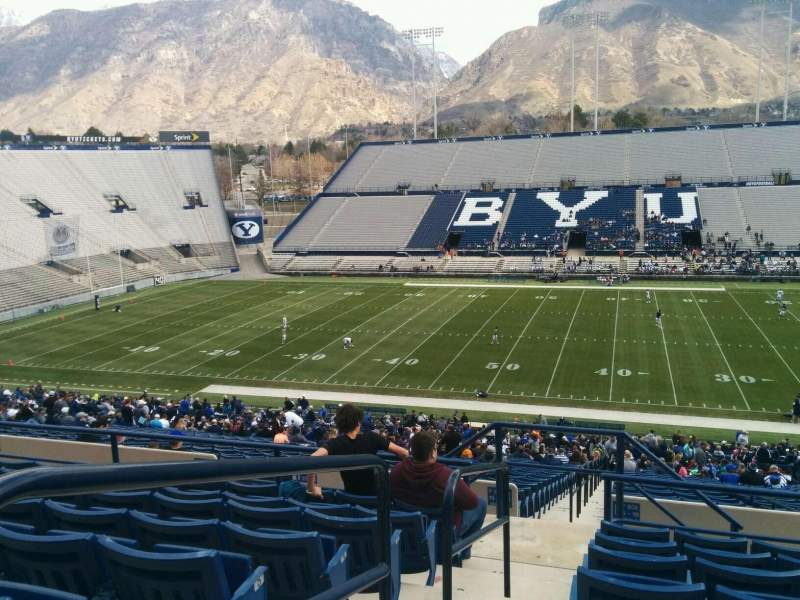 Seating view for LaVell Edwards Stadium Section 104 Row 8 Seat 23