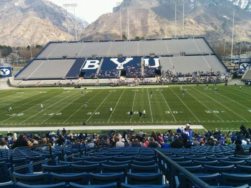 Seating view for LaVell Edwards Stadium Section 4 Row 15 Seat 5