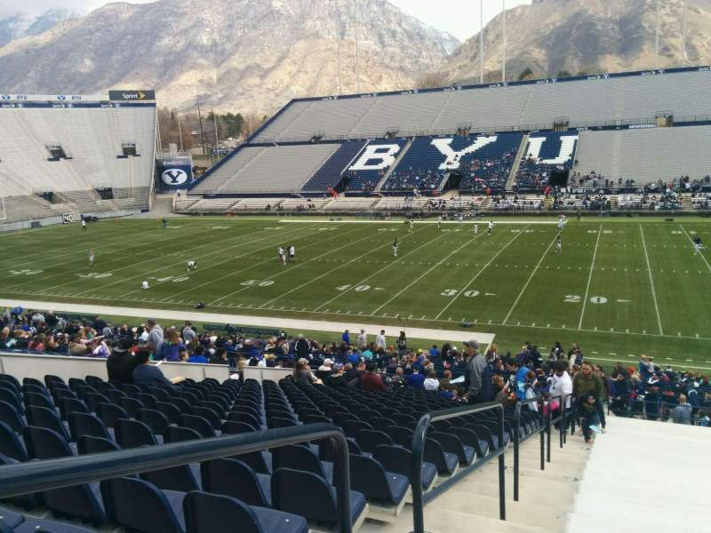 Seating view for LaVell Edwards Stadium Section 2 Row 36 Seat 40