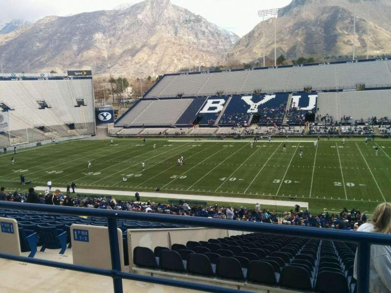 Seating view for LaVell Edwards Stadium Section 103 Row 3 Seat 8