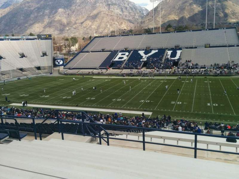 Seating view for LaVell Edwards Stadium Section 102 Row 9 Seat 30