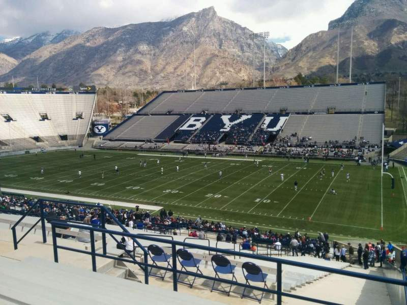 Seating view for LaVell Edwards Stadium Section 101 Row 7 Seat 1