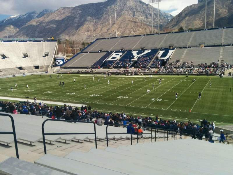 Seating view for LaVell Edwards Stadium Section 1 Row 37 Seat 1