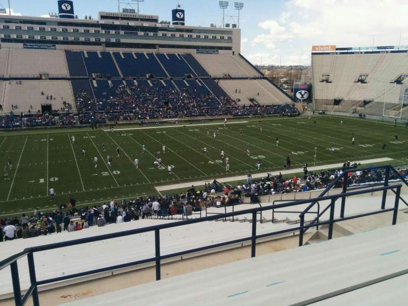 Seating view for LaVell Edwards Stadium Section 136 Row 7 Seat 13