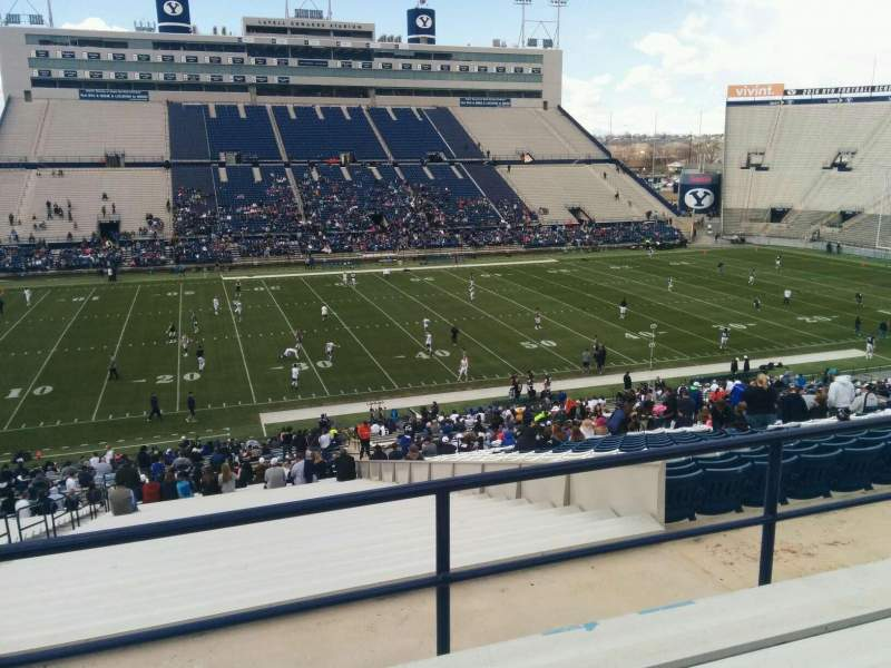 Seating view for LaVell Edwards Stadium Section 135 Row 5 Seat 35
