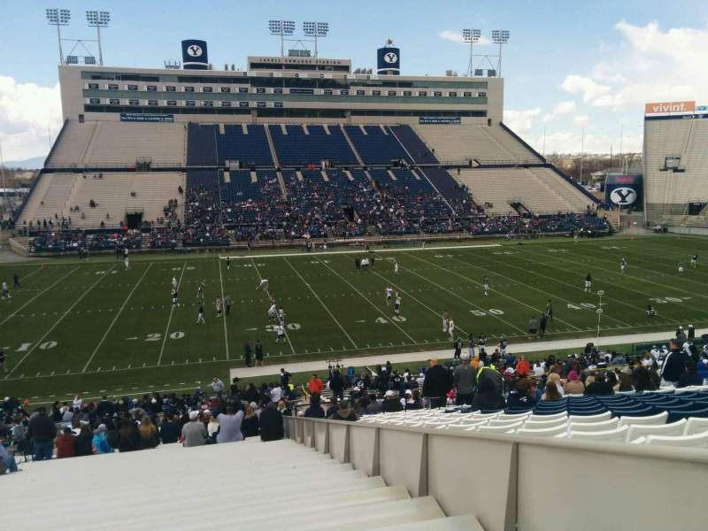 Seating view for LaVell Edwards Stadium Section 35 Row 40 Seat 30