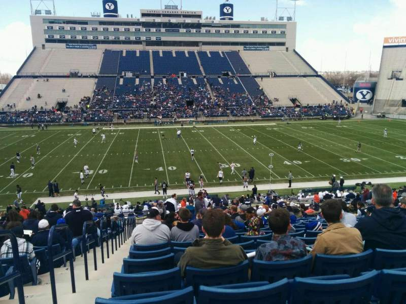 Seating view for LaVell Edwards Stadium Section 34 Row 33 Seat 42