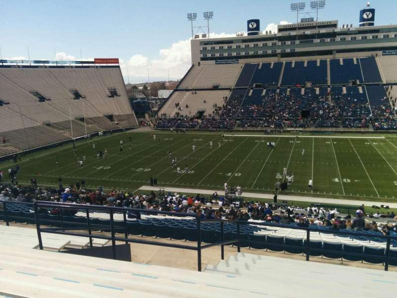 Seating view for LaVell Edwards Stadium Section 134 Row 11 Seat 10