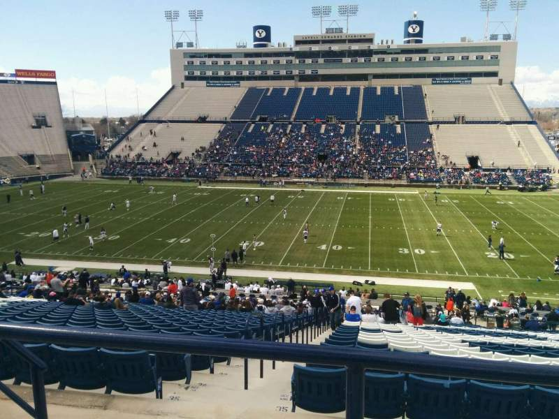 Seating view for LaVell Edwards Stadium Section 133 Row 3 Seat 33