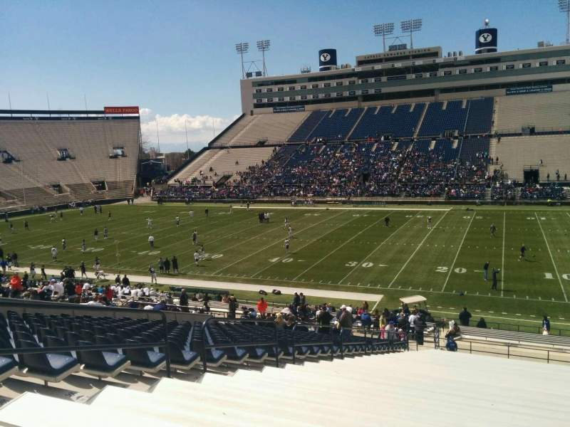 Seating view for LaVell Edwards Stadium Section 32 Row 41 Seat 34