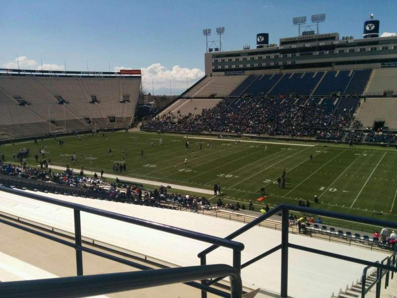 Seating view for LaVell Edwards Stadium Section 131 Row 4 Seat 14