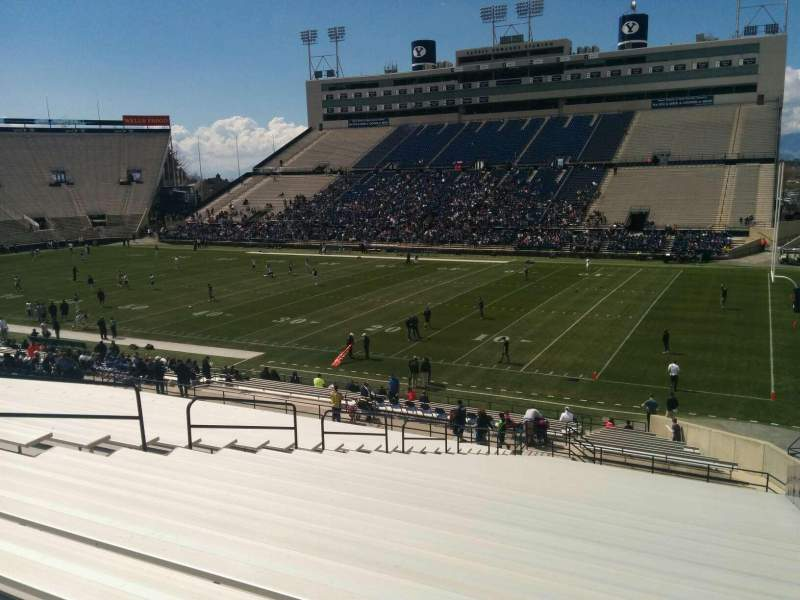 Seating view for LaVell Edwards Stadium Section 31 Row 38 Seat 2