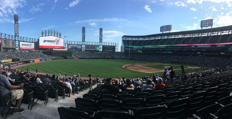 Seating view for Guaranteed Rate Field Section 146 Row 32 Seat 8