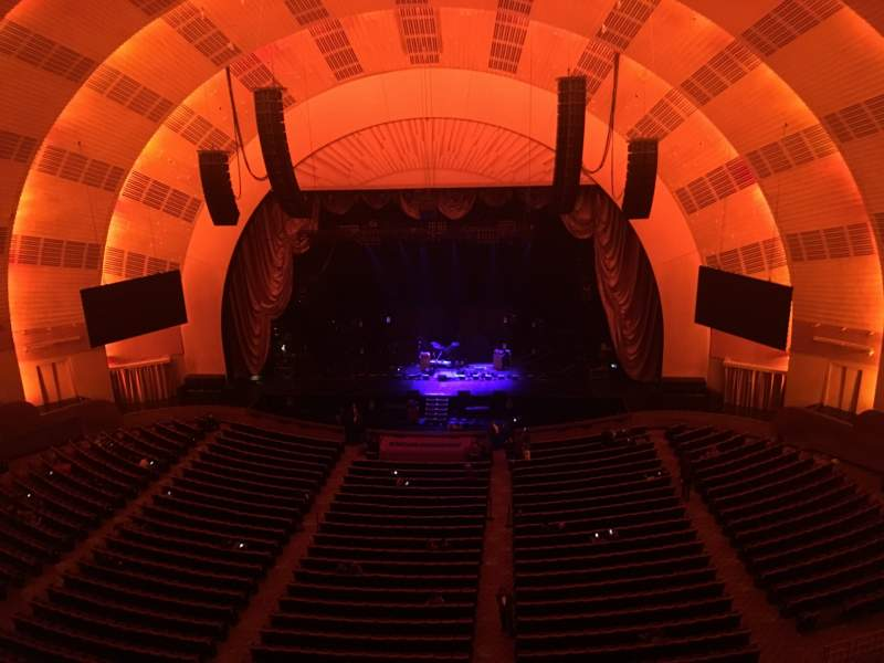 Seating view for Radio City Music Hall Section 3RD Mezzanine 3 Row B Seat 313