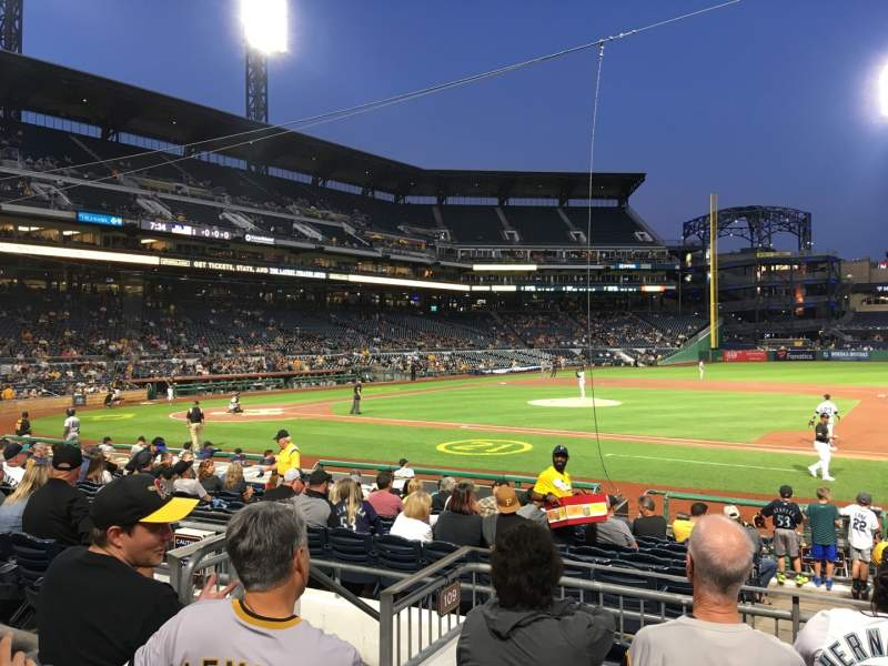 Seating view for PNC Park Section 109 Row E Seat 12