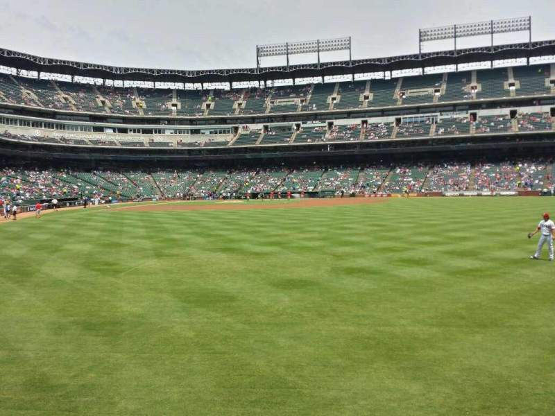 Seating view for Globe Life Park in Arlington Section 46 Row 1 Seat 20