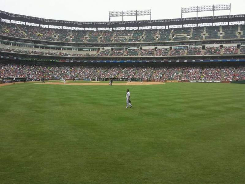 Seating view for Globe Life Park in Arlington Section 46 Row 1 Seat 19