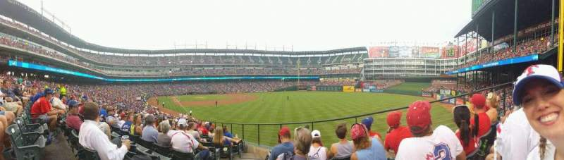 Seating view for Globe Life Park in Arlington Section 41 Row 25 Seat 2