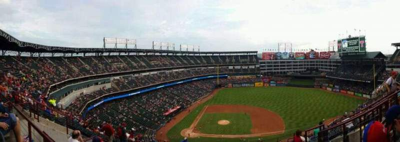 Seating view for Globe Life Park in Arlington Section 332 Row 14 Seat 17