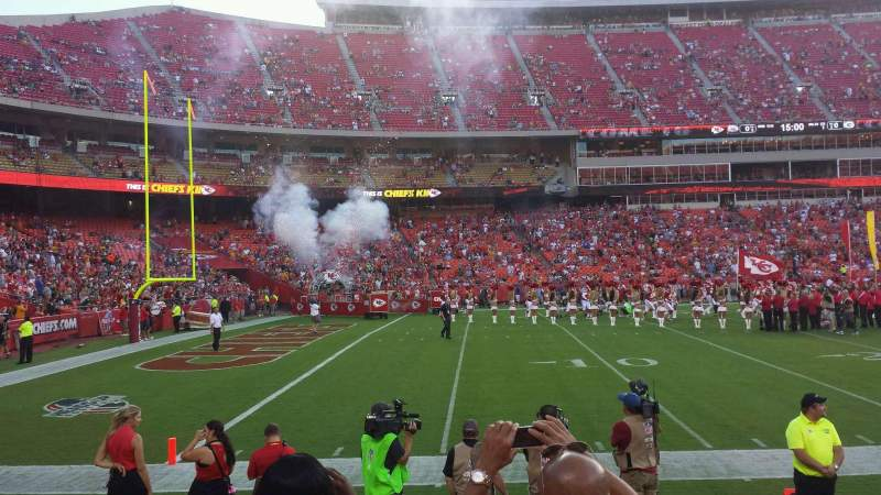Seating view for Arrowhead Stadium Section 104 Row 4 Seat 17
