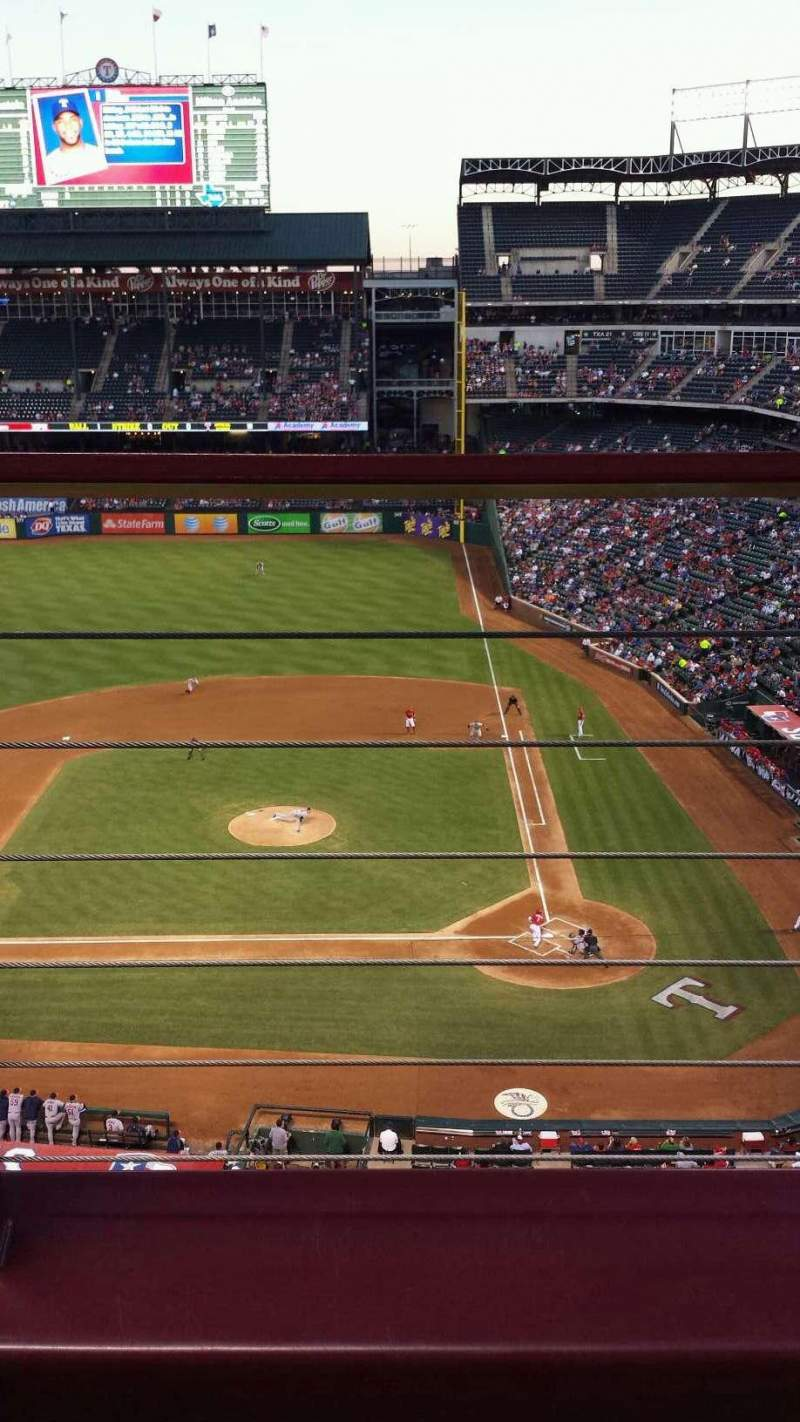 Seating view for Globe Life Park in Arlington Section 321 Row 2 Seat 8
