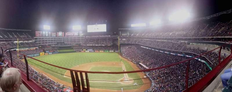 Seating view for Globe Life Park in Arlington Section 321 Row 2 Seat 7