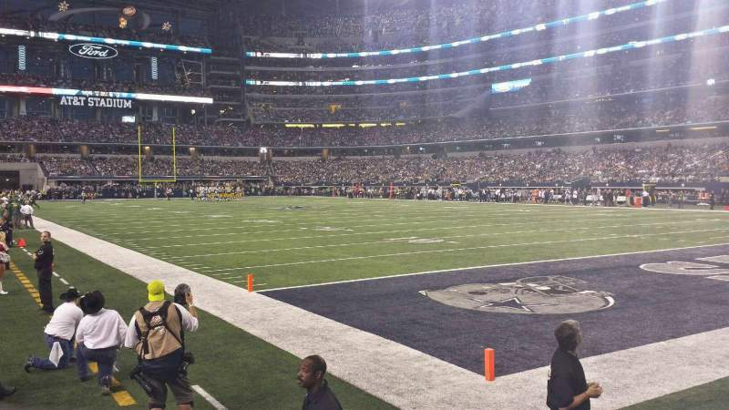 Seating view for AT&T Stadium Section 126 Row 1 Seat 14