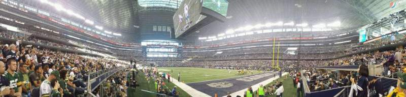 Seating view for AT&T Stadium Section 126 Row 1 Seat 15