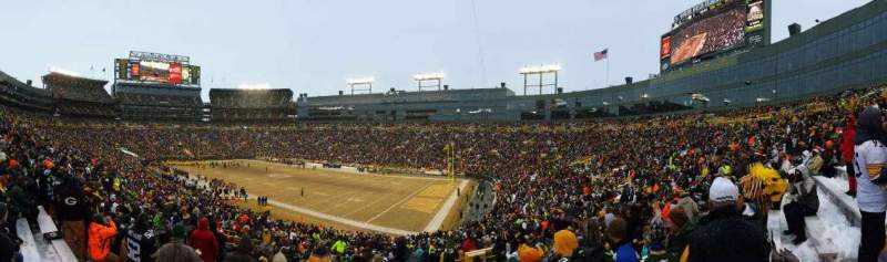 Seating view for Lambeau Field Section 109 Row 44 Seat 16