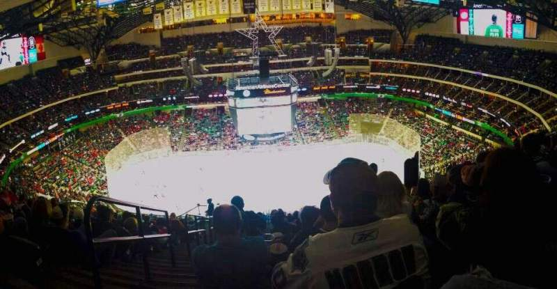 Seating view for American Airlines Center Section 326 Row S Seat 27