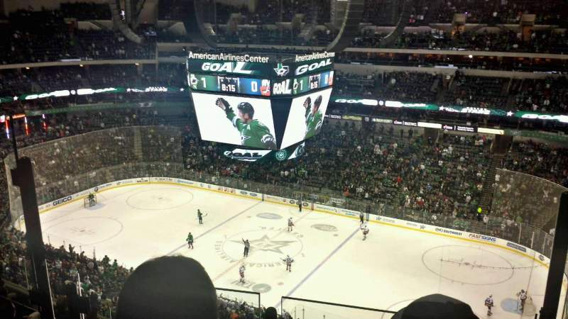 Seating view for American Airlines Center Section 324 Row G Seat 8