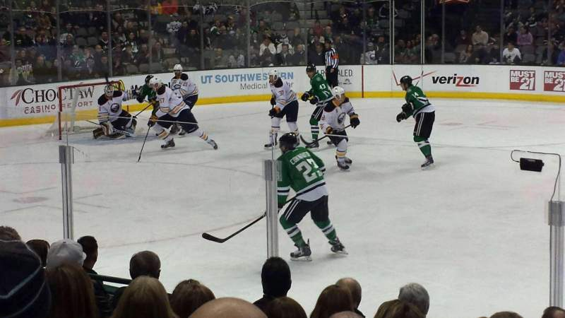 Seating view for American Airlines Center Section 107 Row J Seat 8
