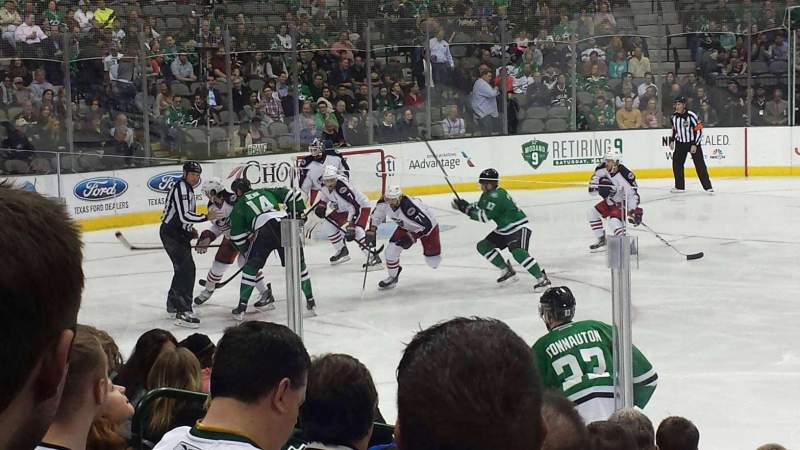 Seating view for American Airlines Center Section 107 Row H Seat 6