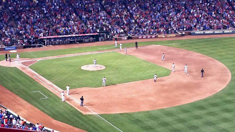 Seating view for Globe Life Park in Arlington Section 341 Row 2 Seat 14