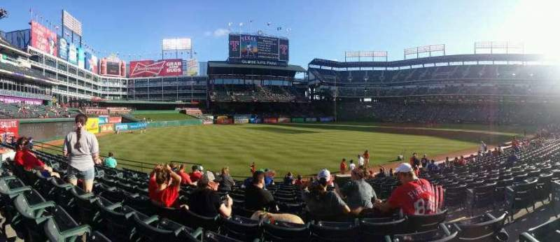 Seating view for Globe Life Park in Arlington Section 12 Row 16 Seat 14