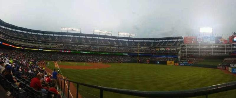 Seating view for Globe Life Park in Arlington Section 42 Row 43 Seat 3